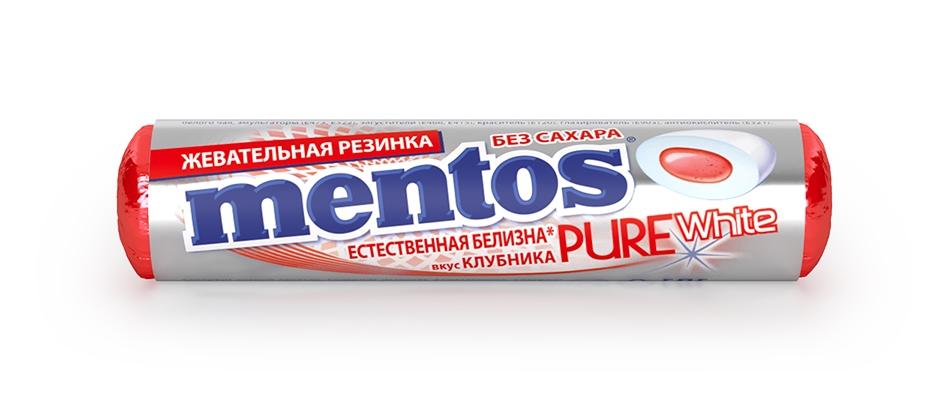 Жевательная резинка Пур Фреш Ролл Клубника Ментос
