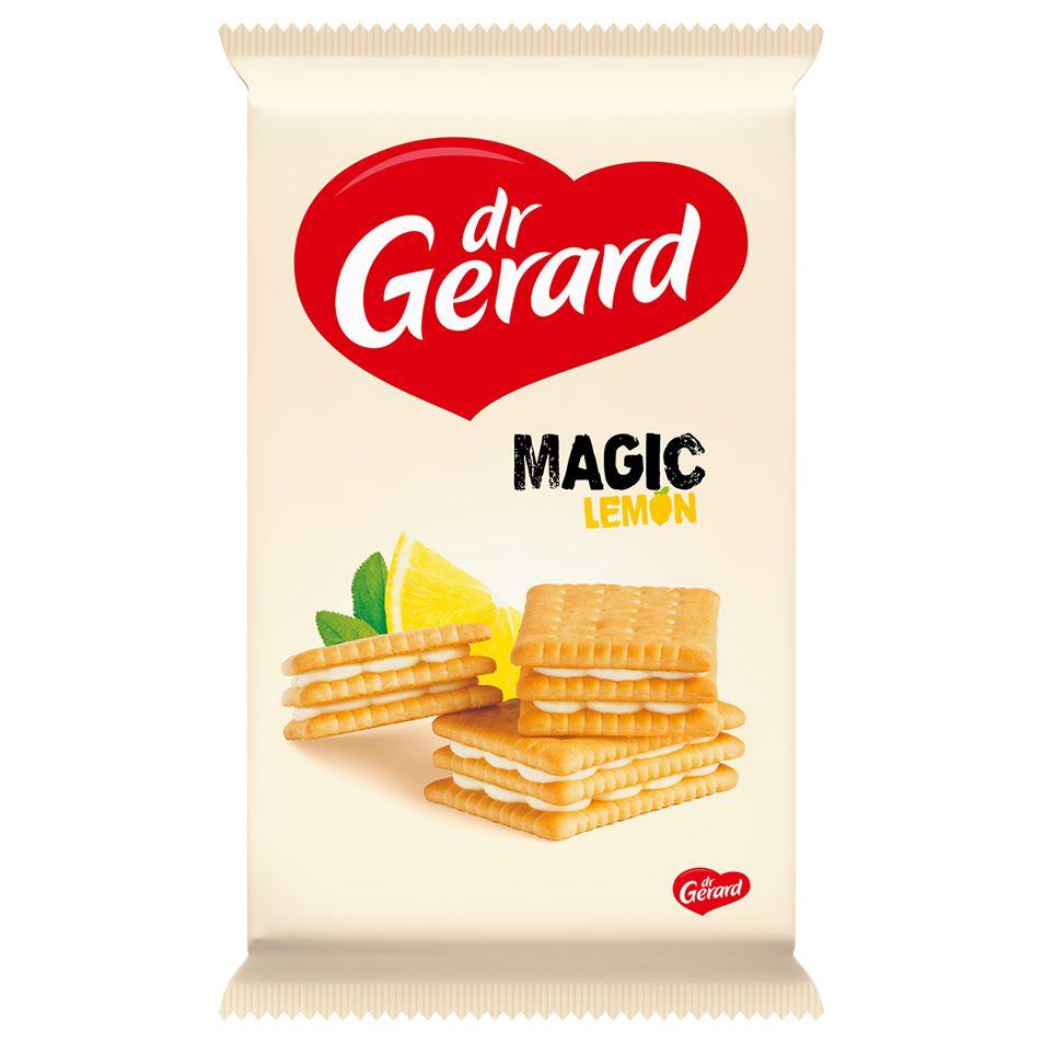СИ - Печенье-сэндвич «Волшебный лимон» с кремовой начинкой со вкусом лимона 144г Dr Gerard
