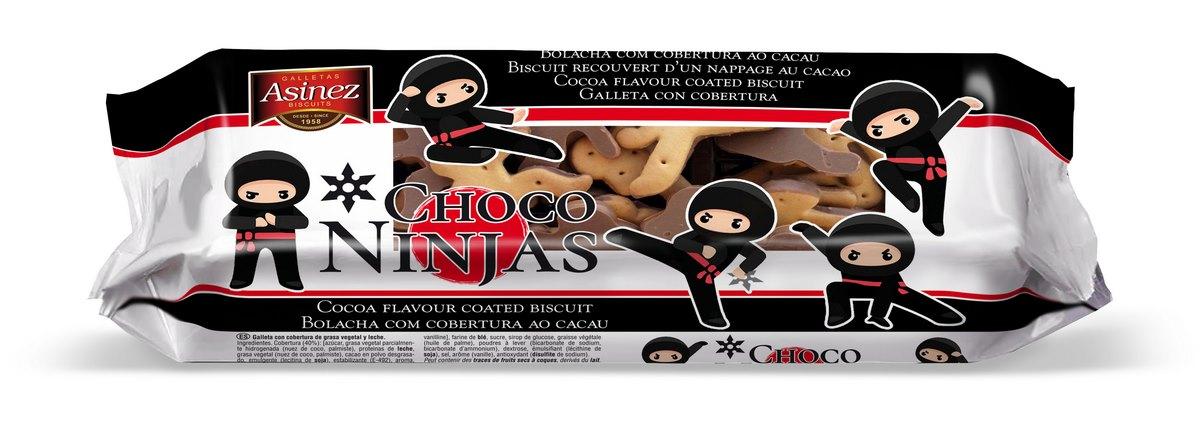 Печенье с шоколадной глазурью Сhoco ninjas Asinez