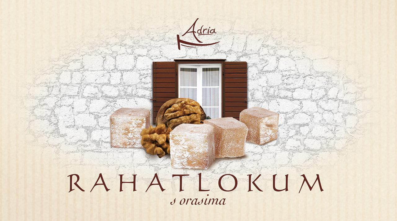 Рахат лукум с грецким орехом Adria Хорватия