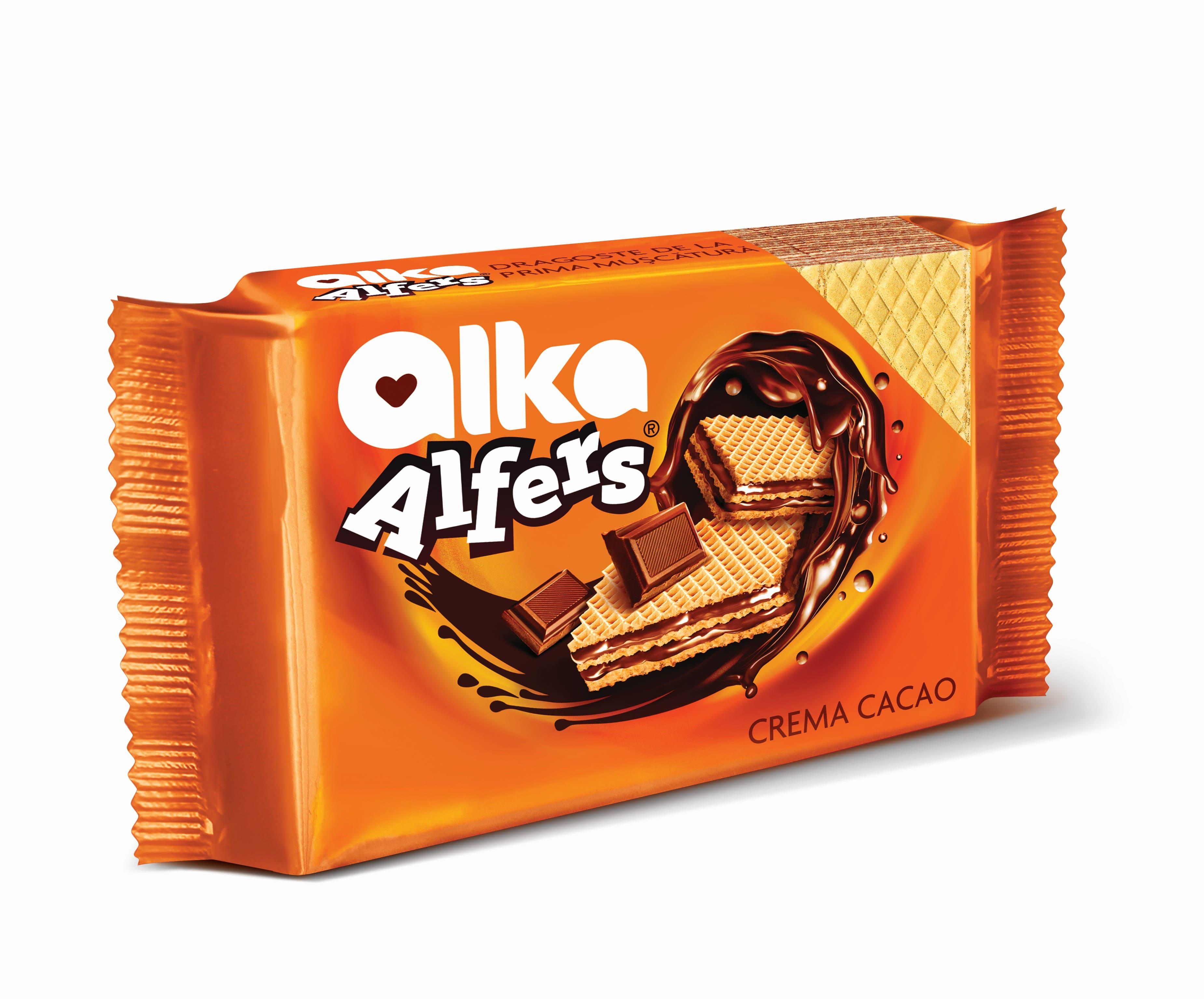 Вафли Alfers с какао кремом Alka