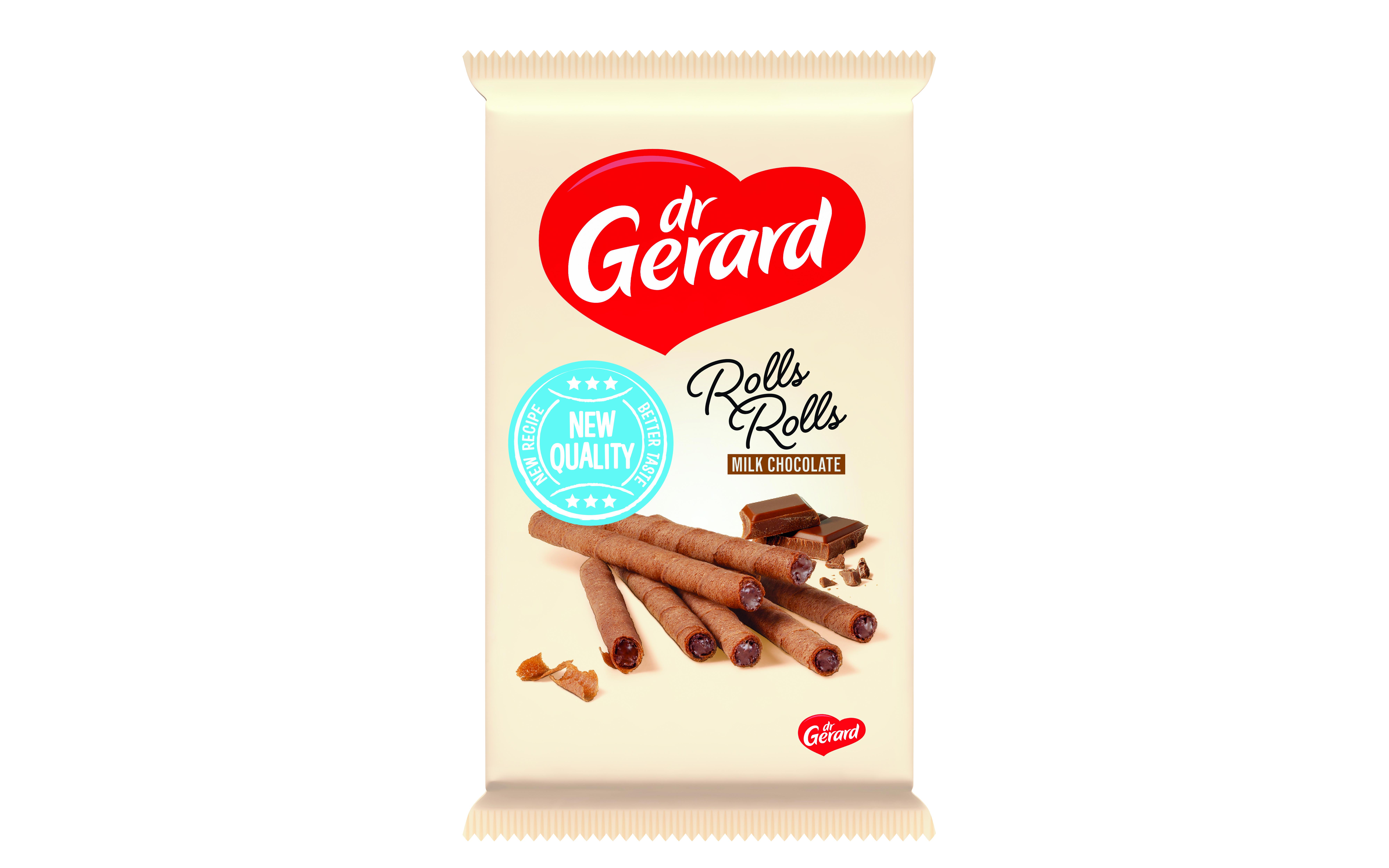 Вафли-трубочки с начинкой из молочного шоколада Dr Gerard