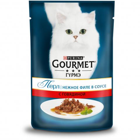 Фото - Gourmet Корм для кошек говядина пауч Gourmet Perle Purina antonio sotos gourmet перец паприка красный молотый сладкий antonio sotos gourmet