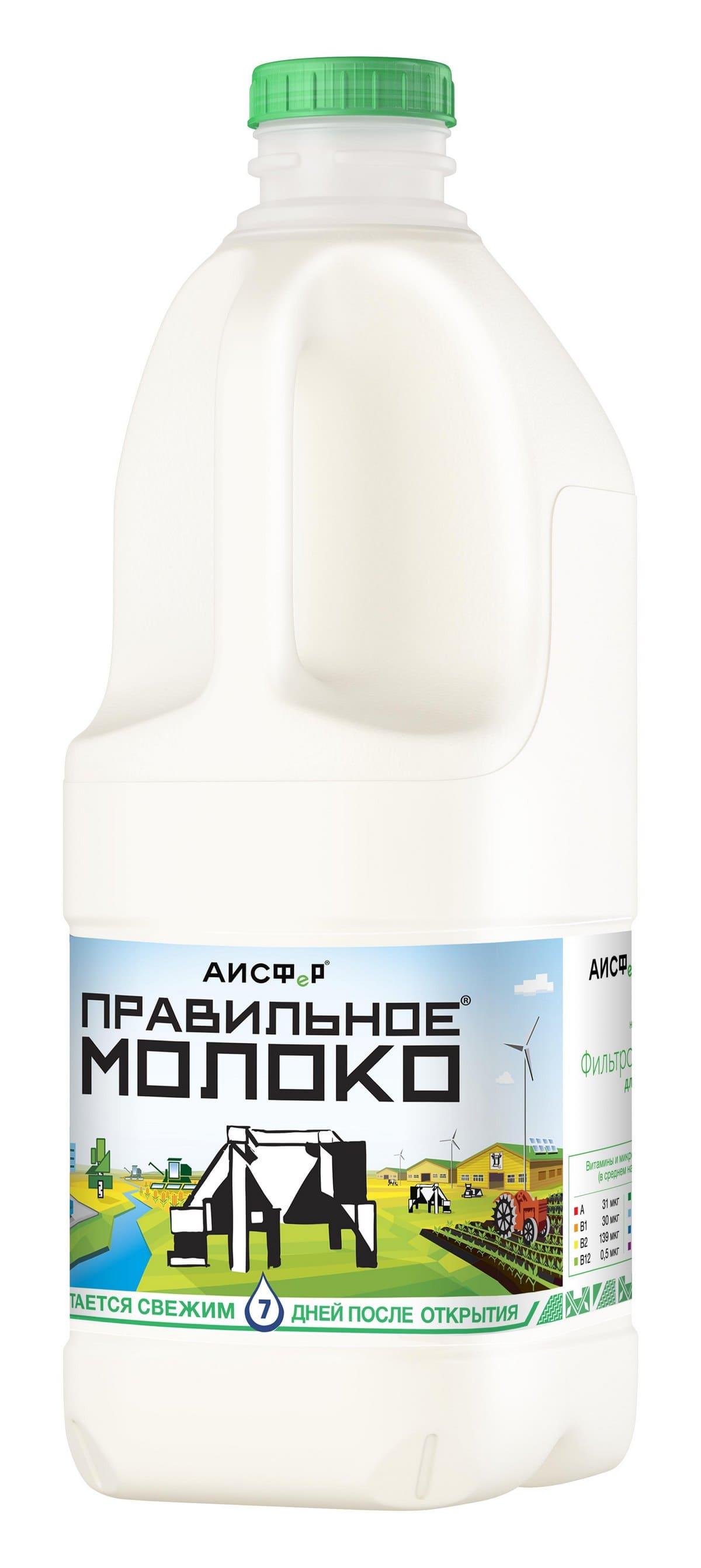 Фото - Правильное Молоко БЗМЖ Молоко 2.5% 2л Правильное молоко молоко