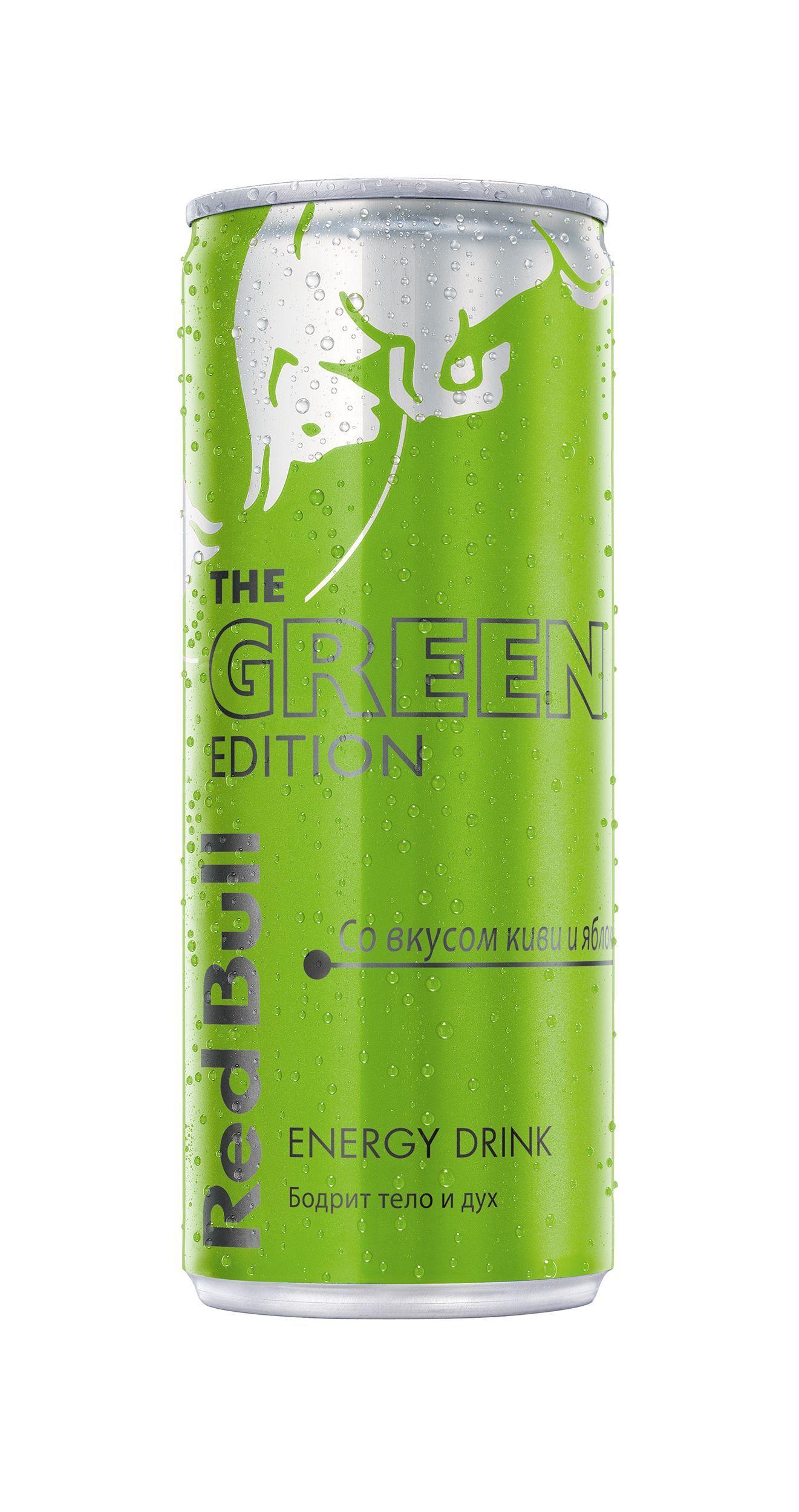 Напиток Энергетический Ред Булл Green Edition 250мл
