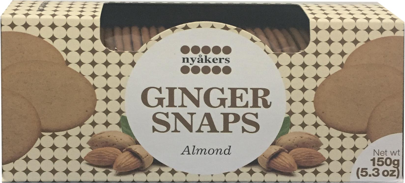 Печенье имбирное со вкусом миндаля Nyakers
