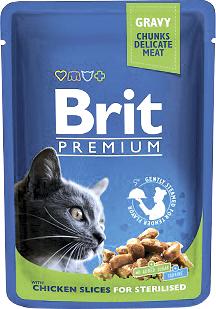 Brit Корм для стерилизованных кошек курица Brit Premium