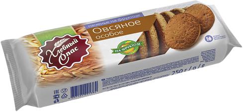 Печенье овсяное Особое на фруктозе Хлебный спас