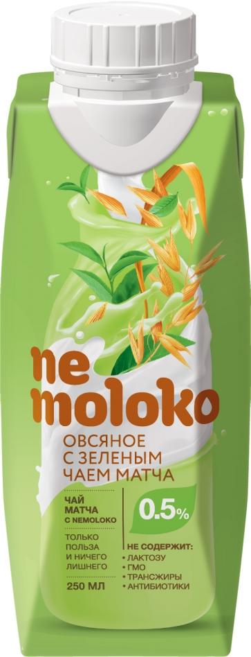 Напиток Nemoloko овсяный с зелёным чаем матча 025л