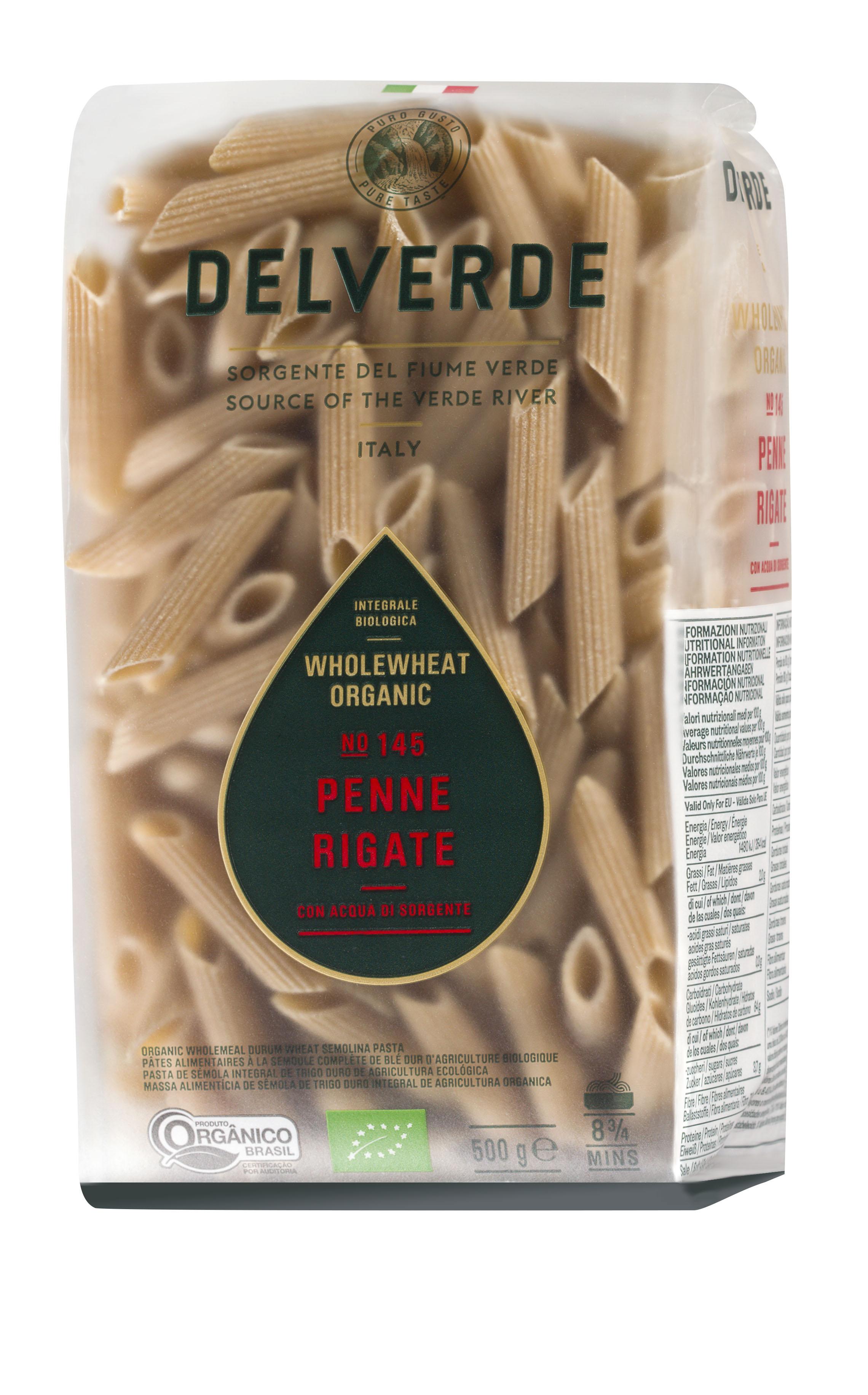 Делверде Макароны №145 Пенне Ригате Биолоджика с отрубями Delverde макароны delverde spaghetti 141 с отрубями био 500 г