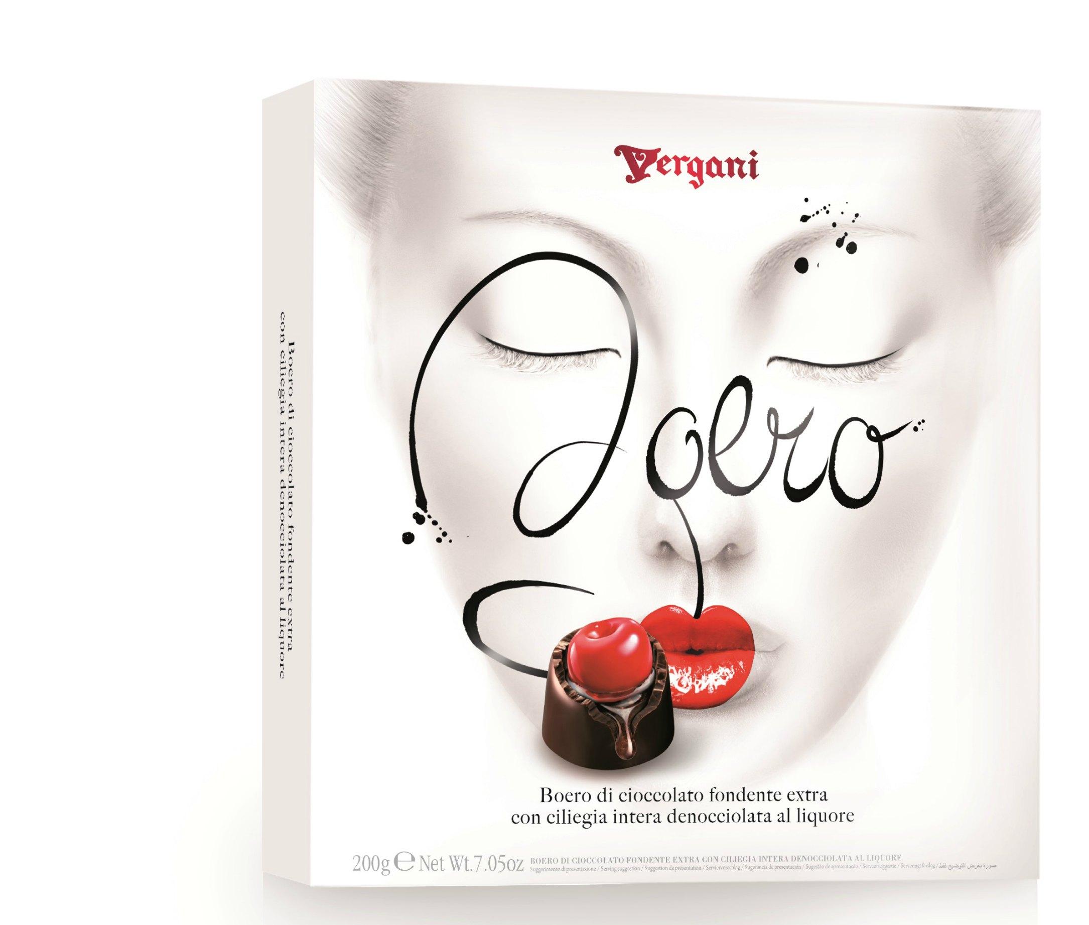 Конфеты из темный шоколада с вишней в ликере Secondo Vergani Spa