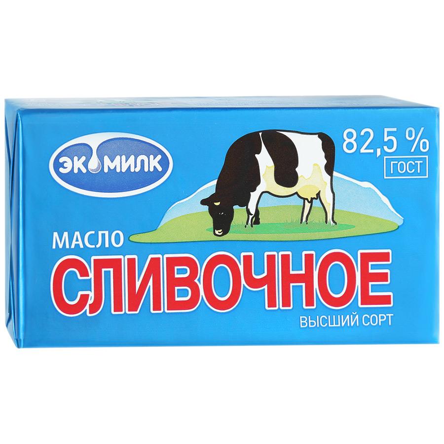 Экомилк БЗМЖ Масло Сливочное 82.5% Экомилк экомилк бзмж молоко цельное отборное питьевое пастеризованное 3 4 4 5% 900мл экомилк