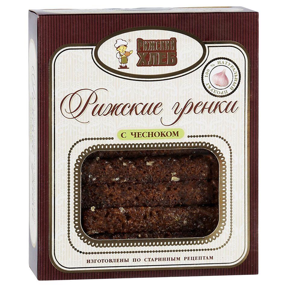 Хлеб Гренки рижские с чесноком Рижский хлеб хлеб рижский хлеб цельнозерновой 300 г