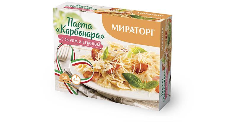 Мираторг Паста Карбонара сыр/бекон Мираторг