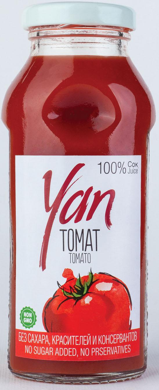 Фото - БЕЗ БРЭНДА Сок томатный Yan 0.25 л. сок томатный j7 тонус 900 мл