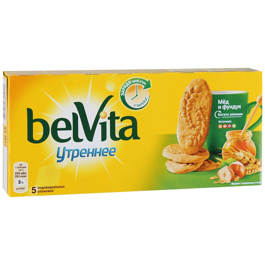 Печенье утреннее витаминное с фундуком/медом BelVita