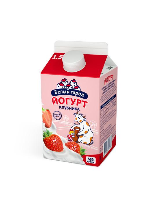 БЗМЖ Йогурт Клубника 1.5% Biely Gorod