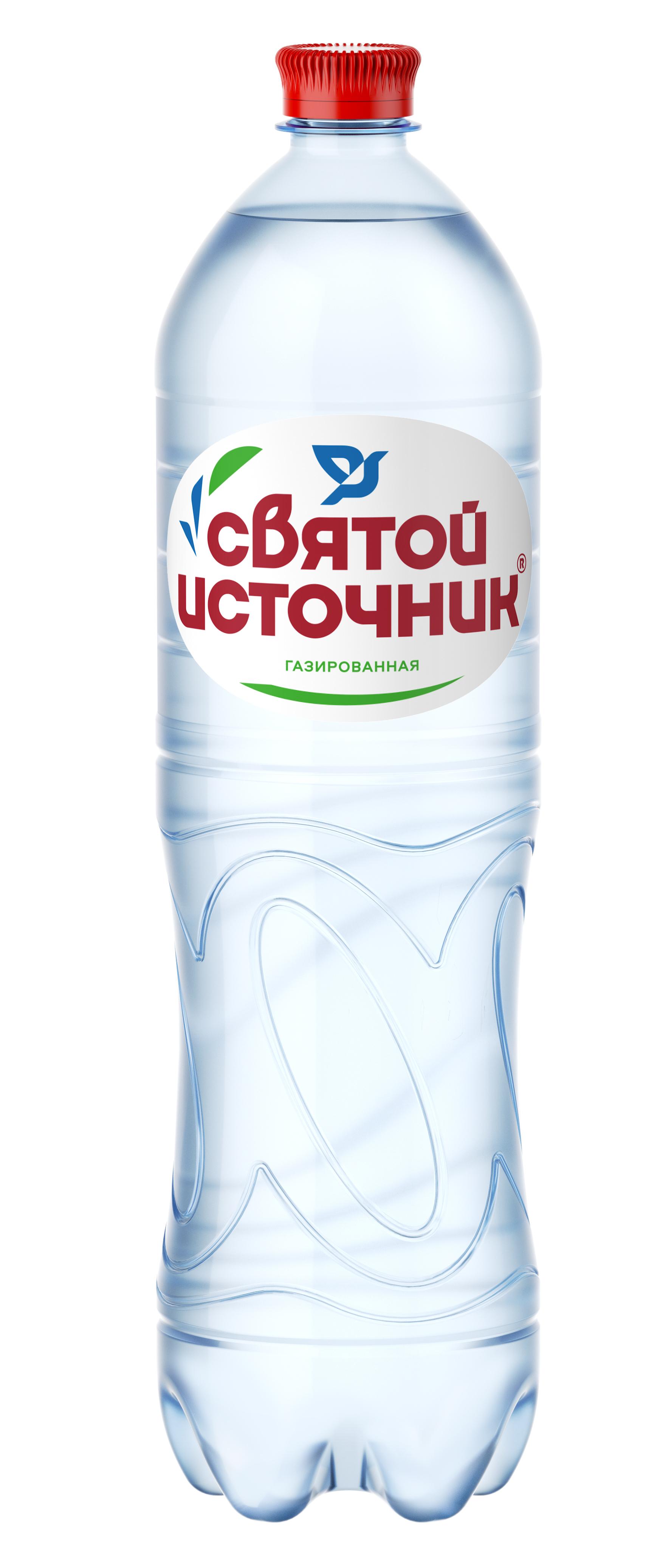 Вода газированная Святой Источник 1.5 л.