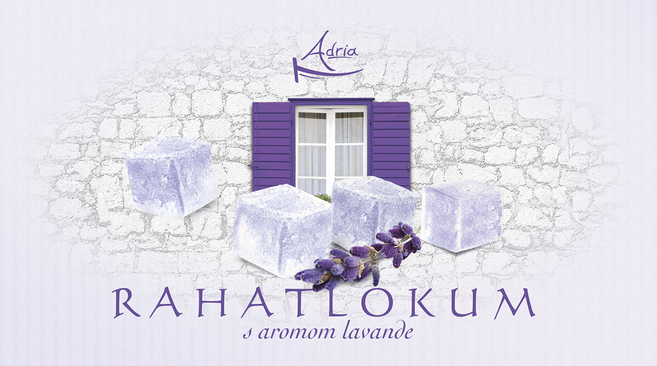Рахат лукум с ароматом лаванды Adria Хорватия
