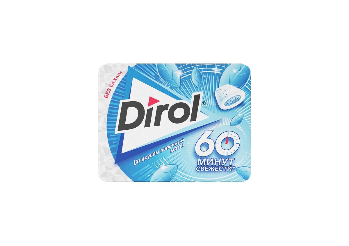 Жевательная резинка без сахара со вкусом перечной мяты Dirol