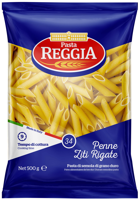 Макаронные изделия из твердых сортов пшеницы  Penne Ziti Rigate 500г Reggia