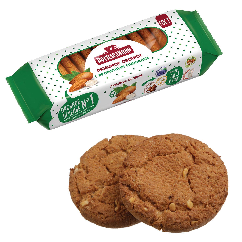 Печенье овсяное с миндалем Посиделкино