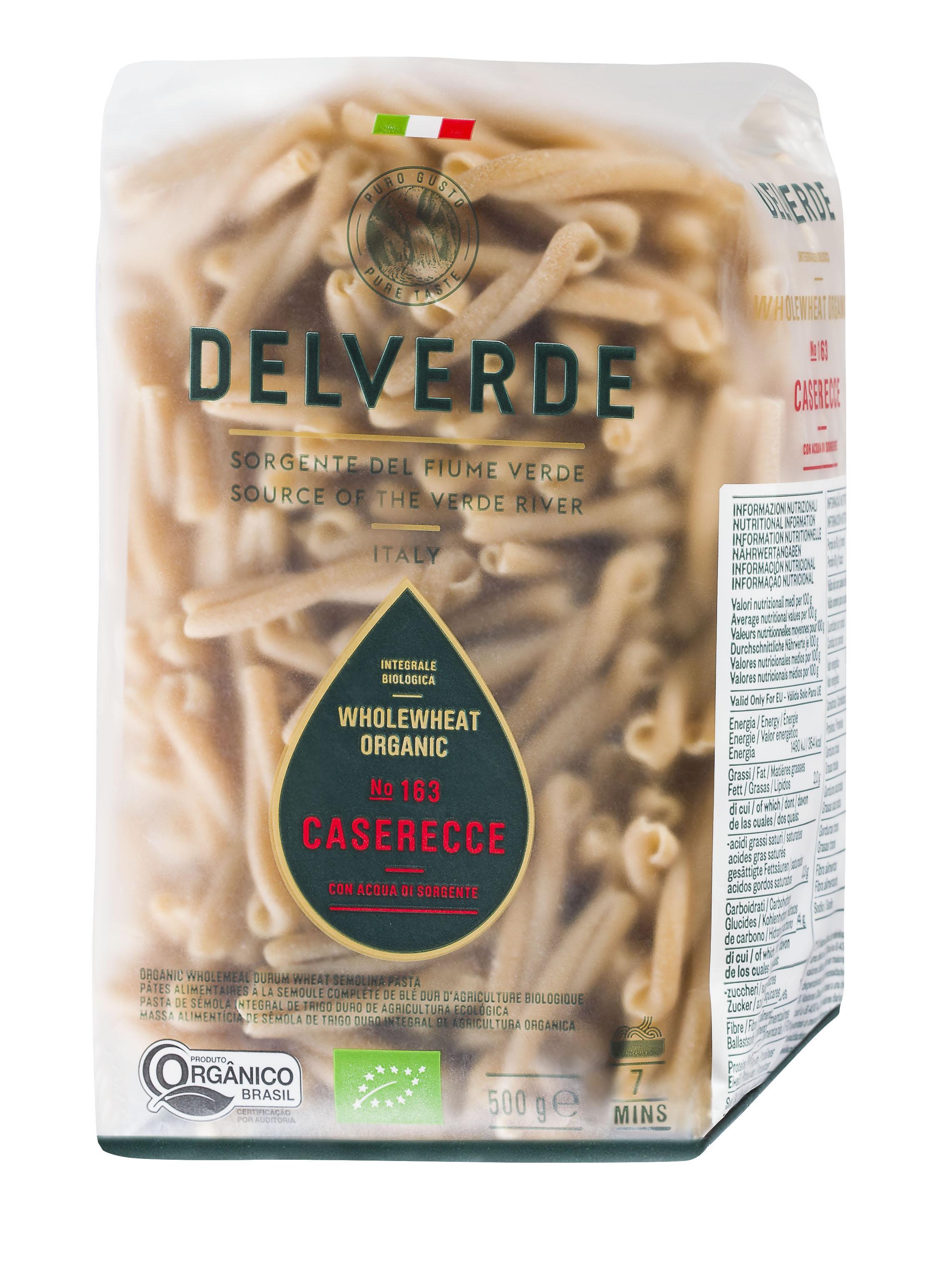 Делверде Макароны №163 Казаречче Биолоджика с отрубями Delverde макароны delverde spaghetti 141 с отрубями био 500 г