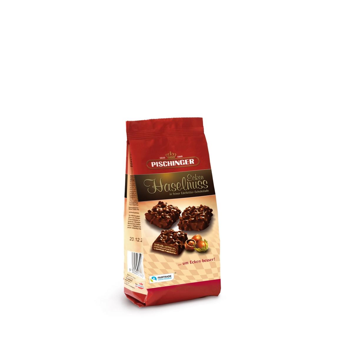 Вафли с ореховой начинкой в темном шоколаде Pischinger