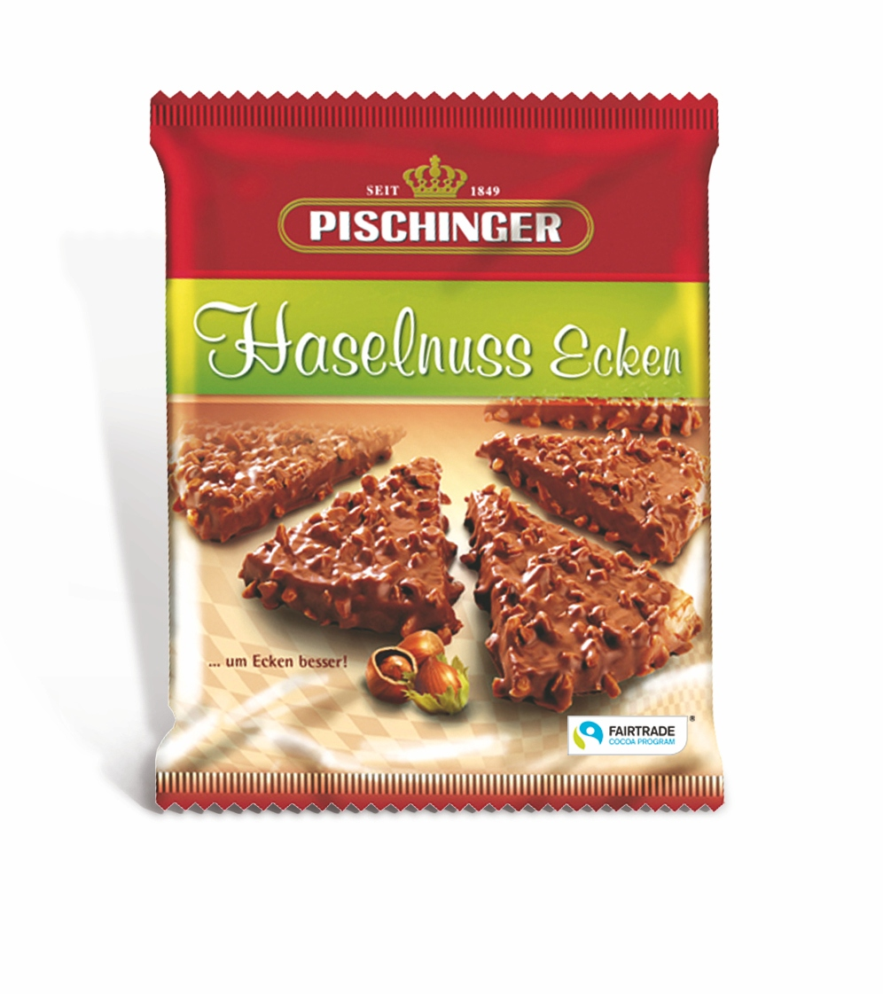 Вафли с ореховой начинкой в молочном шоколаде Pischinger