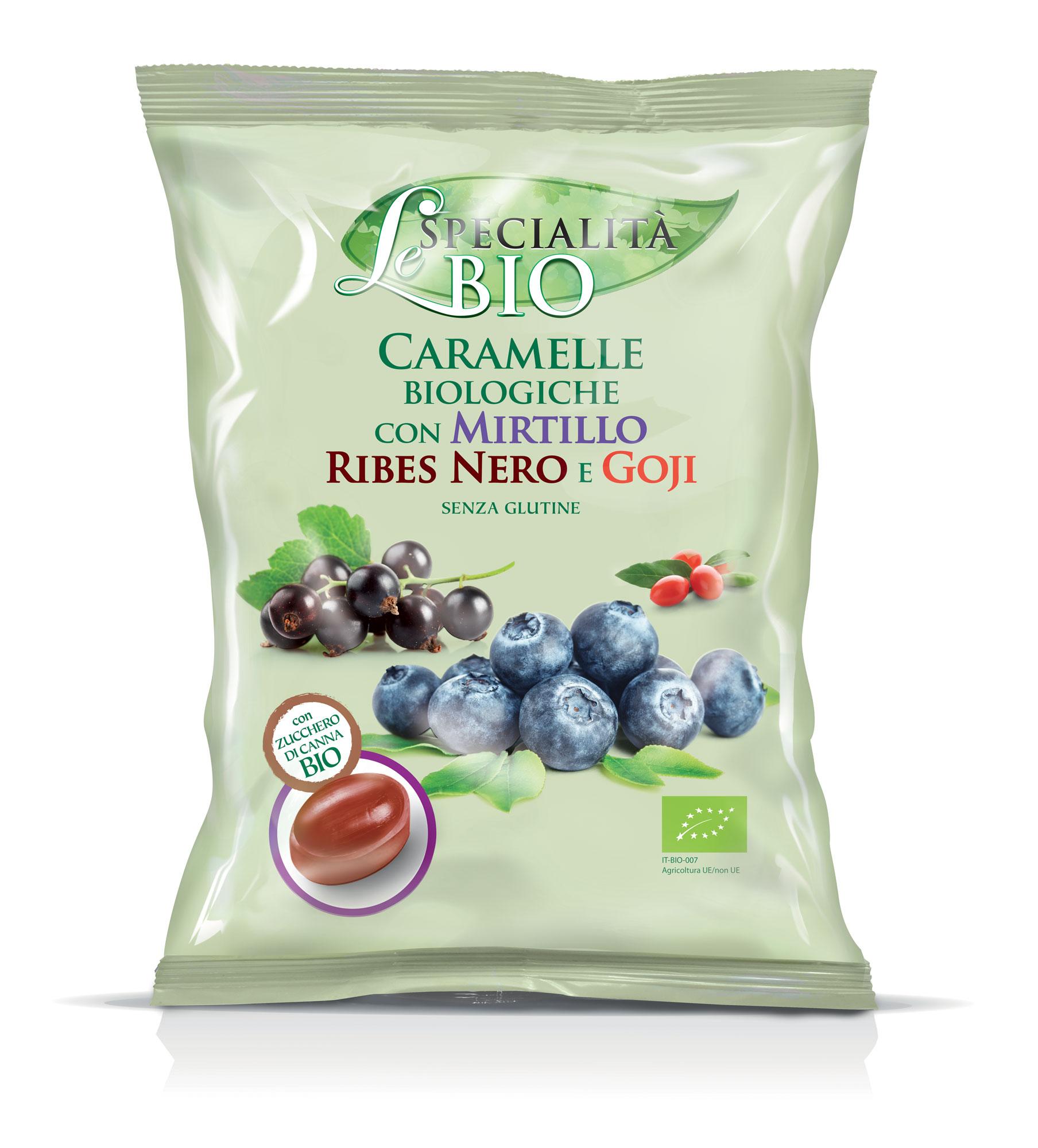 Конфеты Le Specialita Bio с черникой черной смородиной и ягодами годжи