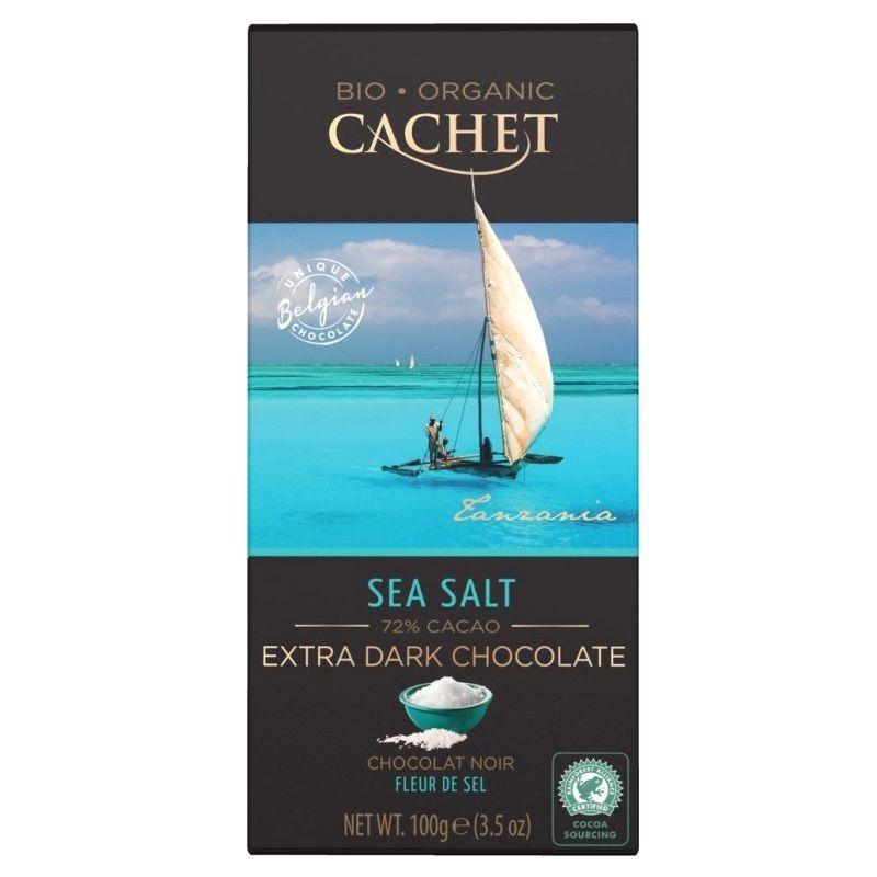 Органический темный шоколад (72% какао) с морской солью 100 г. Сachet