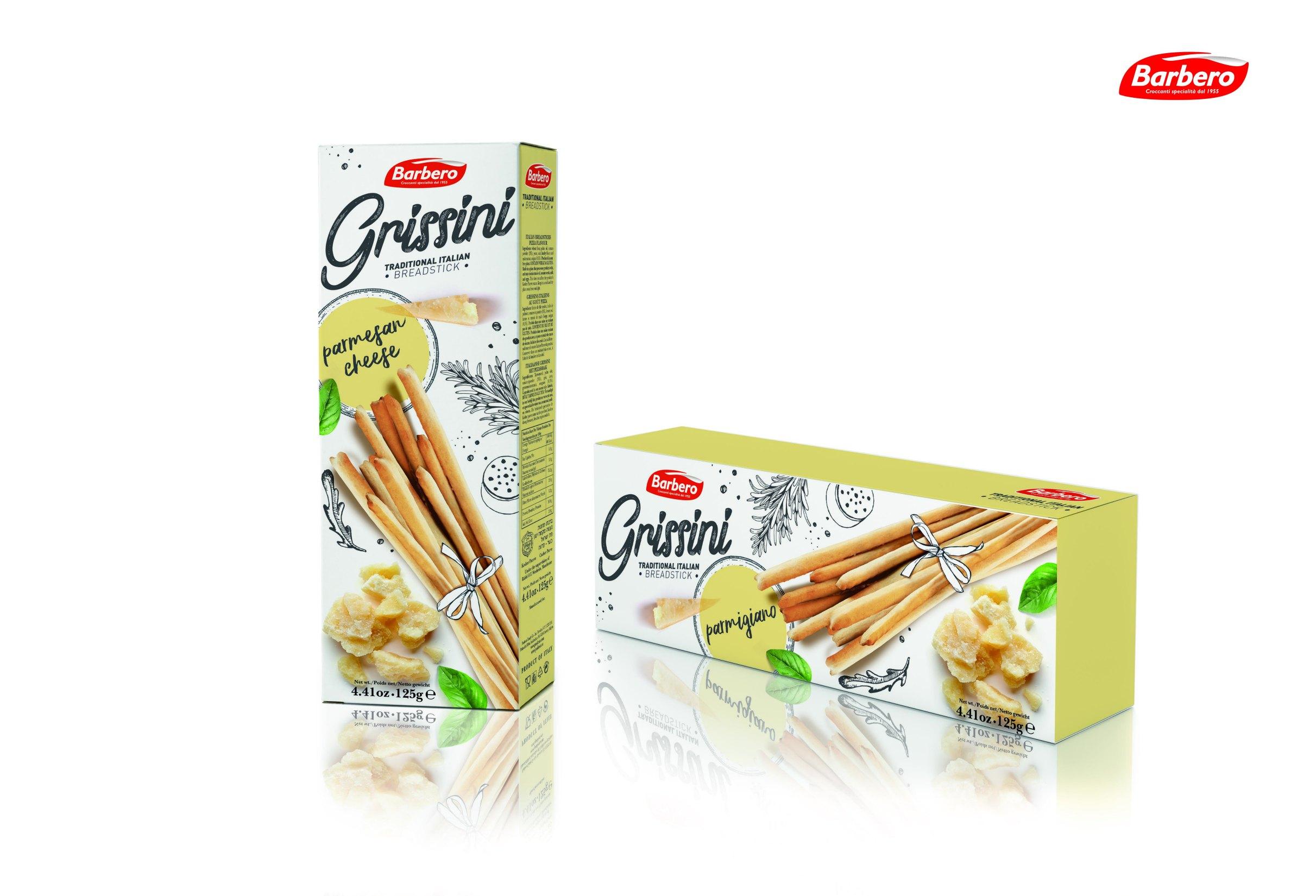 Палочки хлебные Гриссини с пармезаном Barbero