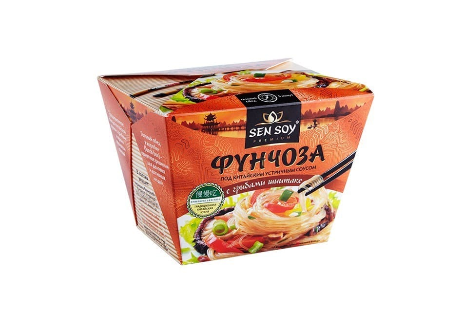 Вермишель Фунчоза под ским устричным соусом  Sen Soy