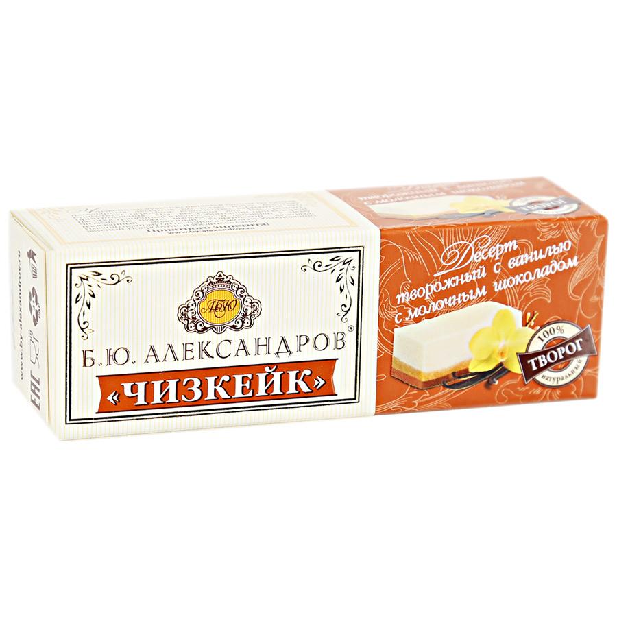 БЕЗ БРЭНДА БЗМЖ Десерт творожный ванильный Чизкейк с молочным шоколадом Б.А. Александров