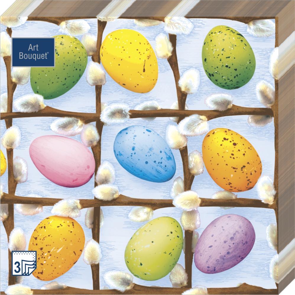 Art Bouquet Салфетки Пасхальные яйца 3 слоя