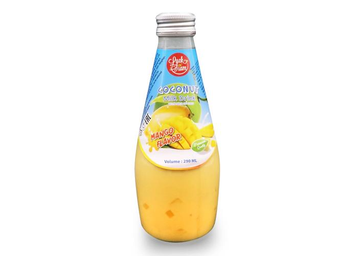 Напиток с соком манго с кусочками кокосового желе безалкогольный негазированный Luck Siam