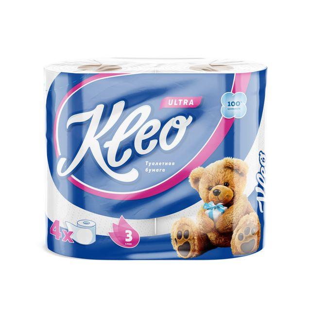 Фото - Kleo Бумага туалетная 3 слоя 4 рулона Kleo Ultra хозяйственные товары officeclean туалетная бумага 2 слоя 4 шт