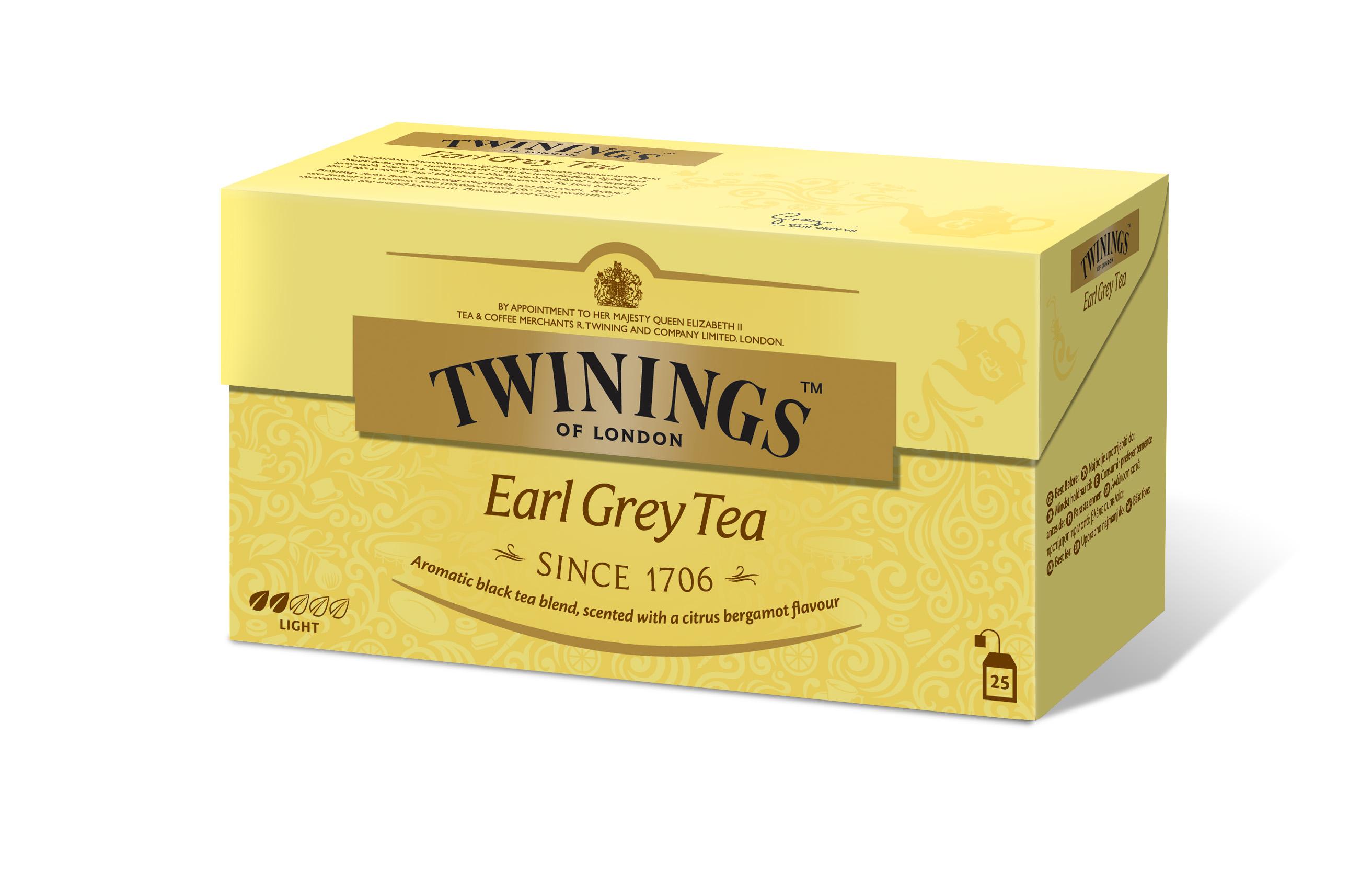 Твинингс Чай пакетированный черный Эрл Грей 50г TWININGS чай черный alma home эрл грей organic 27 9 г
