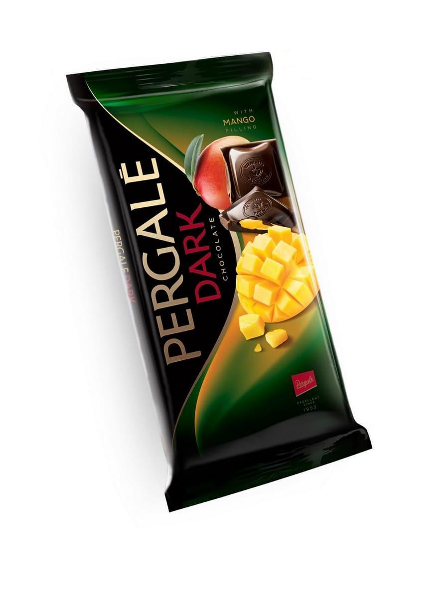 Шоколад Темный с начинкой манго PERGALE
