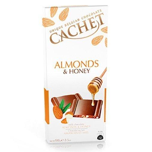 Шоколад молочный с миндалем и медом Cachet