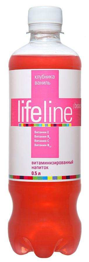 Напиток со вкусом клубники и ванили 0,5 л Lifeline Beauty