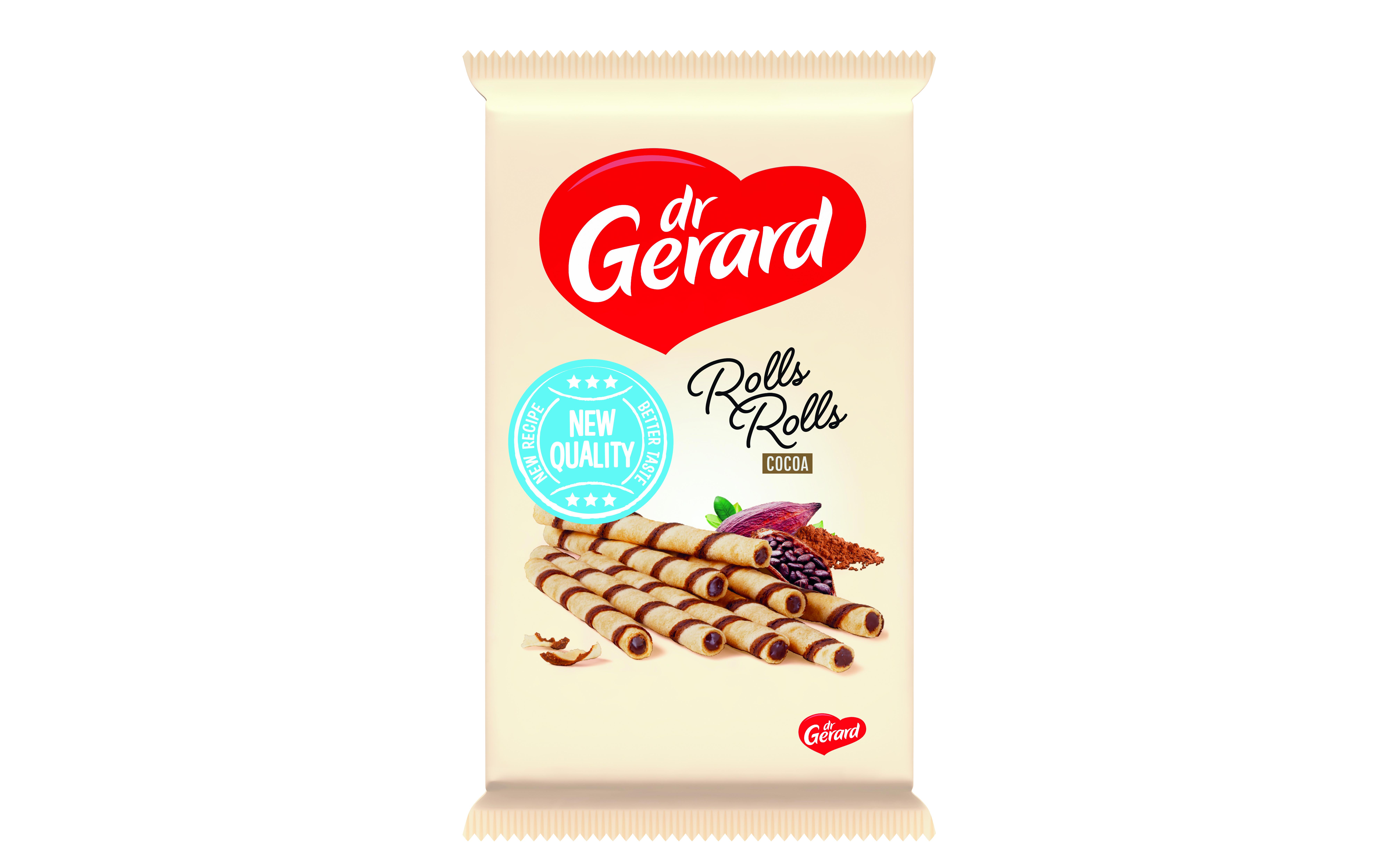 Вафли-трубочки шоколадные с начинкой из какао Dr Gerard