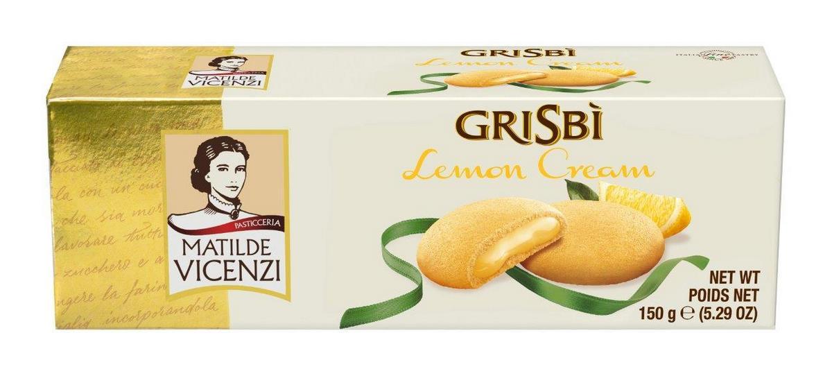 Печенье начинкой из лимонного крема Grisbi 150г