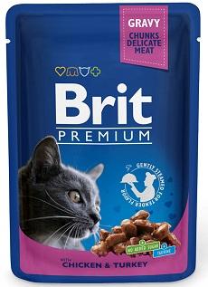 Brit Корм для кошек курица/индейка Brit Premium