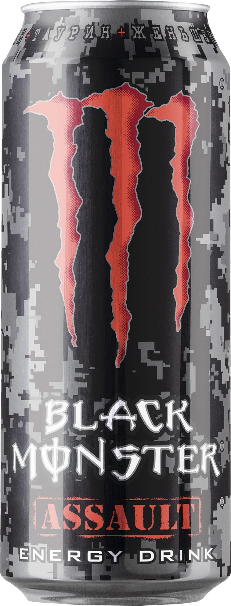 Блэк Монстр Напиток энергетический Блэк монстр-ASSAULT напиток энергетический black monster assault 500 мл