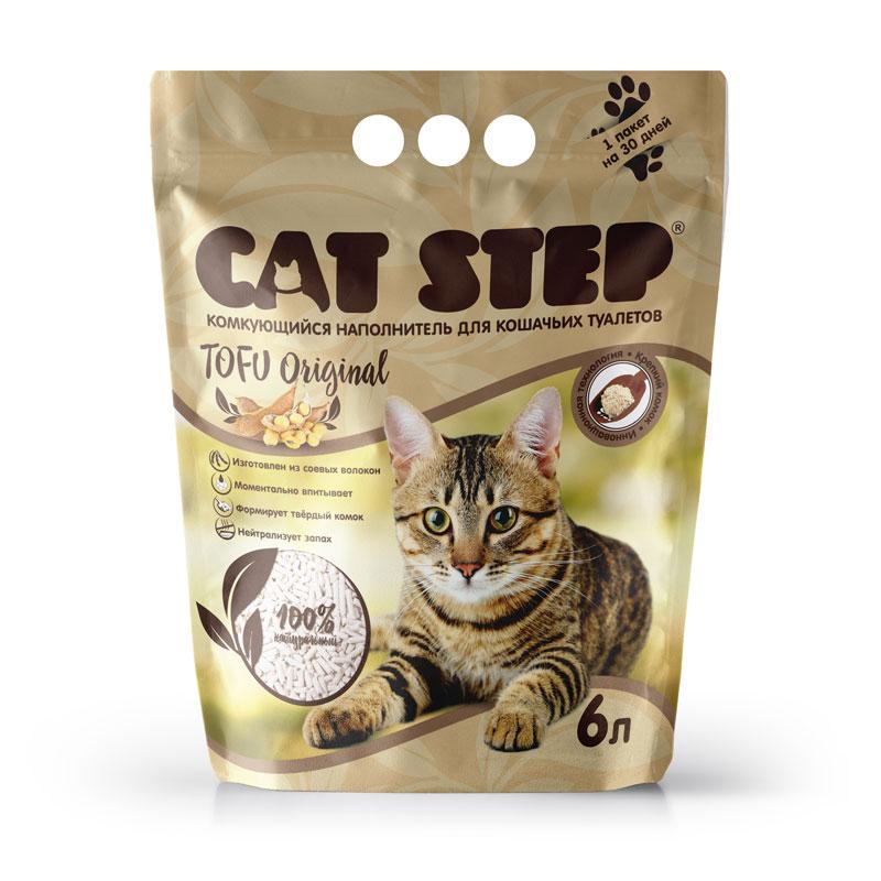 Наполнитель для кошачьего туалета 6л CatStep Tofu