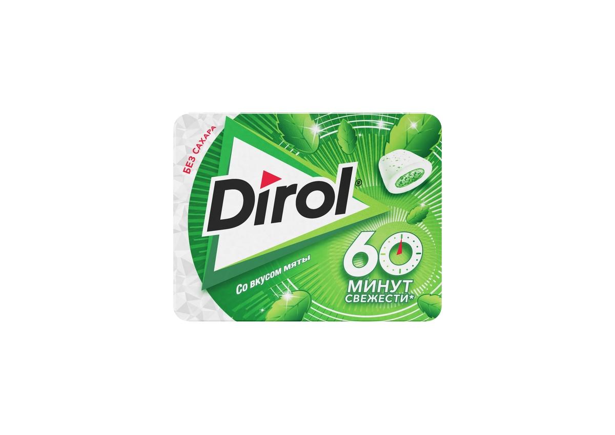 Жевательная резинка без сахара со вкусом мяты Dirol