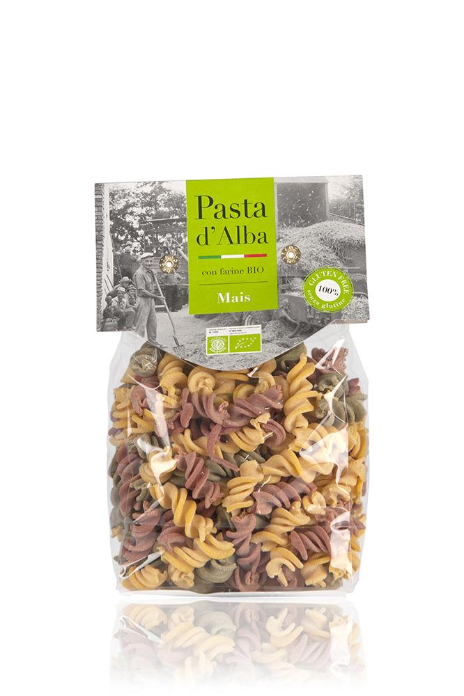 Pasta D Alba Макароны Фузилли кукурузные трехцветные