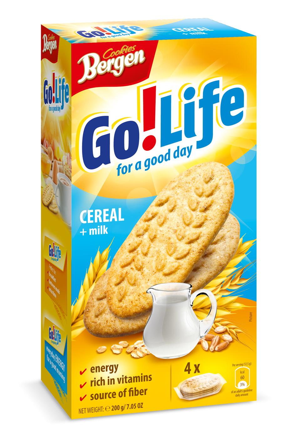 Фото - БЕЗ БРЭНДА Печенье злаковое с молоком Bergen печенье bergen original cookies