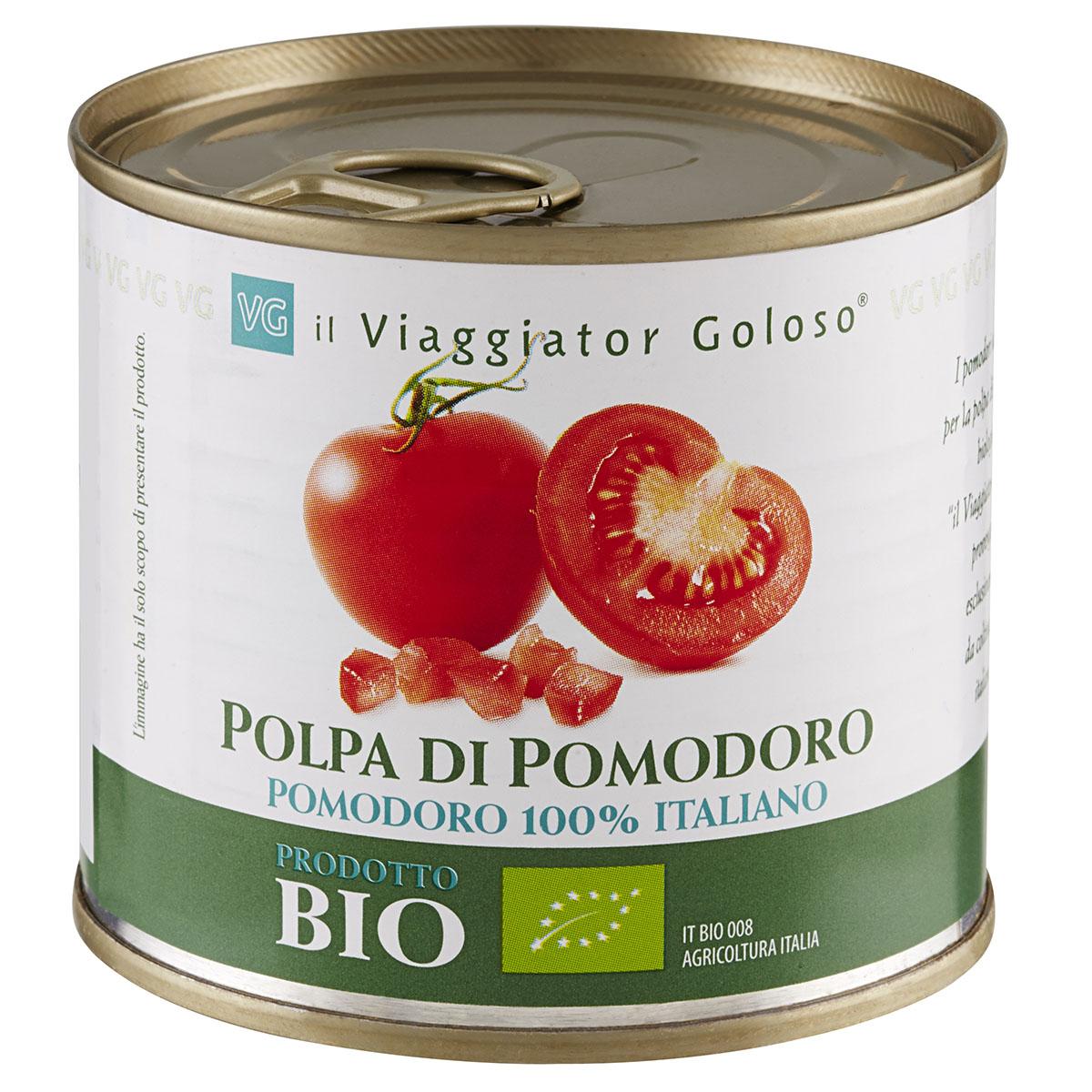 Мякоть помидорв в собственном соку Il Viaggiator Goloso